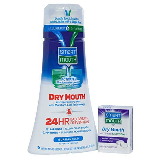 Dry Mouth Mouthwash & Dry Mouth Mints containers