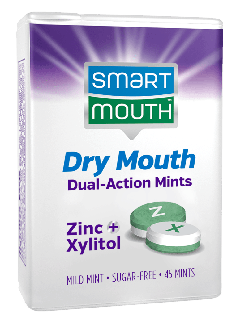 dry mouth relief mints box