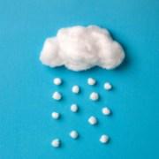 cotton rain cloud