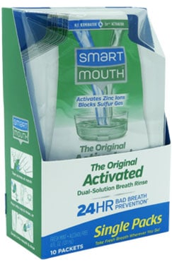 SmartMouth Original Bad Breath Mouthwash Single Packs