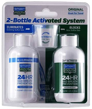 SmartMouth 2-Bottle System Bad Breath Mouthwash